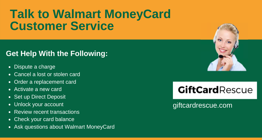 """Walmart MoneyCard Customer Service"""