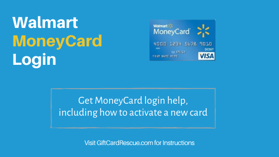 """Walmart Moneycard Login and new card activation"""