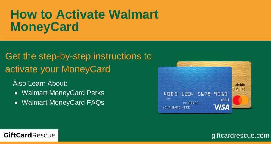 """Activate Walmart MoneyCard"""