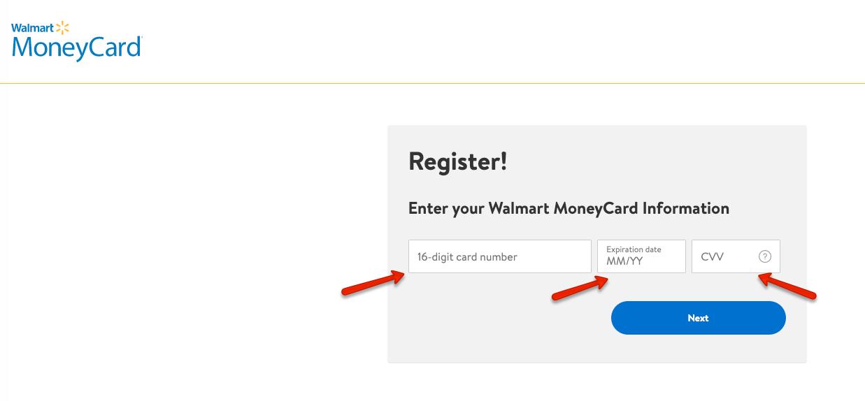 """""""Register a new Walmart MoneyCard"""""""