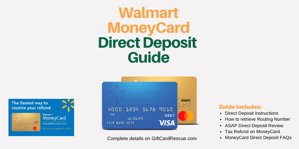 """Walmart Money Card Direct Deposit Guide"""